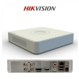 DVR Hikvision DS-7104HGHI-F1, 4-ch BNC interface (1.0Vp-p, 75 Ω), 720p ,G.711u, -ch, RCA (2.0 Vp-p, 1 KΩ) (using audio input), 1-ch RCA(Linear,1kΩ), TCP/IP, PPPoE, DHCP, EZVIZ Cloud P2P, DNS, DDNS, NTP ,SADP, SMTP,SNMP, NFS, iSCSI, UPnP™, HTTPS, 1 SATA In