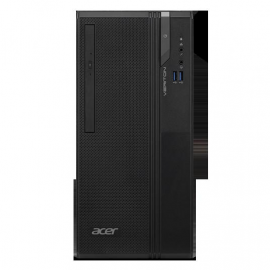 Desktop Acer Veriton Essential S S2730G , Intel Core  i5-9400 (2.9GHz up to 4.1 GHz, 9M Cache) , video integrat Intel UHD Graphics 630, RAM 4GB DDR4 2400MHz (1x4GB), HDD 1TB 5400rpm, DVD+-RW, LAN 10/100/1000, Porturi:  2xUSB 3.1 / 4xUSB 2.0 / 1xRJ45 / 1xV