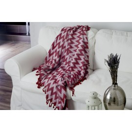 Cuvertura pled 127x152 cm-Rosie, Material 75% Bumbac si 25% Poliester
