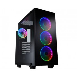 "Carcasa FSP CMT510 PLUS; Mid Tower ATX, Panel: USB3.0 x 2, Audio, Microphone, 2x 3.5"" Drive Bays, 2x 2.5"" Drive Bays, Fan&Water Cooler supply: Front: 120mm x 3 or 140mm x 2, or 360mm x1 Radiator, Top: 120/140mm x 1, Rear: 120mm x1, Color: Bl"