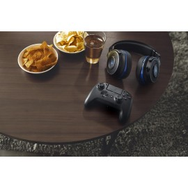 Razer Raiju Tournament Edition PS4 Controller Mercury Edition, 4 multi- function buttons, Mecha-Tactile triangle, circle, X, square action buttons, 3.5 mm audio port for stereo audio output and microphone input, Trigger stops for quick-firing action, Deta