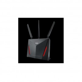 ASUS RT-AC86U Dual Band Wireless Router AC2900N, IEEE 802.11a, IEEE 802.11b, IEEE 802.11g, IEEE 802.11n, IEEE 802.11ac, IPv4, IPv6, AC2900 ultimate AC performance: 750+2167 Mbps, Memory: 256 MB Flash/ 512 MB RAM, 3* External antenna, 1* Internal 3dBi ante