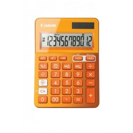 Calculator birou Canon LS123KOR portocaliu, 12 digiti, ribbon, display LCD, functie business, tax si conversie moneda