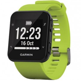 GPS Runnning Watch Garmin Forerunner 35, Limelight, 128 x 128 pixels; sunlight-visible, transflective memory-in-pixel (MIP); glass lens, rechargeable lithium-ion; Smart Mode: Up to 9 days, GPS mode: Up to 13 hours, Water rating: 5 ATM, Garmin Elevate wris