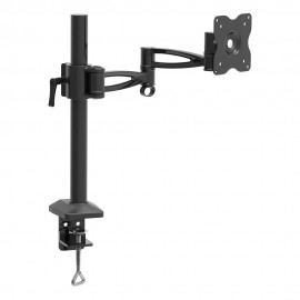 BARKAN Monitor Desk Mount, Black, 5 Movement -Vertical adjustment, Rotate, Fold, Swivel & Tilt, up to 8.8 lbs /4 kg, Mount assures wide movement range to reach ergonomically suited viewing position, Movement options allow vertical adjustment, rotate 3