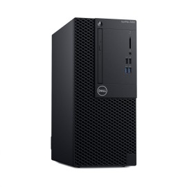 Desktop Dell OptiPlex 3060 MT, Intel Core i3-8100 (6M Cache, 3.60 GHz), Intel Integrated Graphics, 8GB (1x8GB) 2666MHz DDR4, 1TB SATA (7.2k rpm) 3.5, 8x DVD+/-RW 9.5mm Optical Disk Drive, No Wireless, TPM Enabled, I/O Ports: 8x External USB: 4x USB 3.1 Ge
