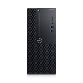 Desktop Dell OptiPlex 3070 MT, Intel® Core i3-9100 (4 Cores/6MB/4T/3.6GHz to 4.2GHz/65W), Integrated Intel® HD Graphics 630, 8GB 1X8GB DDR4 2666MHz UDIMM Non-ECC, M.2 256GB PCIe NVMe Class 35 Solid State Drive, OptiPlex 3070 Tower with 260W up to 85% effi