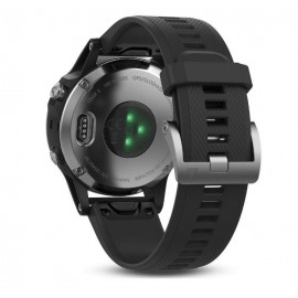 GPS Watch Garmin FENIX 5 Black/Silver , 240 x 240 pixels; sunlight- visible, always-on, low power, colorful display, Rechargeable lithium- ion: Up to 2 weeks in smartwatch mode (depending on settings), up to 24 hours in GPS mode, and up to 75 hours in Ult