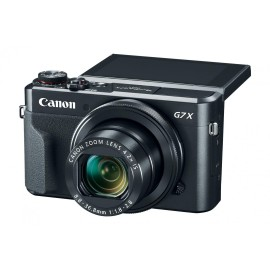 "Camera foto Canon PowerShot G7x MARK II, 20.1Mpx, sensor CMOS, procesor DICIC 7, zoom optic 4.2x, zoom digital 4x, stabilizare optica, autofocus, macro 5cm, display 3"", face detection, video FullHD, HDMI type D, USB, Wi-Fi, card SD, SDHC, SDXC, bater"