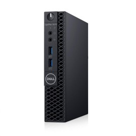 Desktop Dell OptiPlex 3070 MFF, Intel Core i3-9100T (4 Cores/6MB/4T/3.1GHz to 3.7GHz/35W); supports Windows 10/Linux, 8GB 1X8GB DDR4 2666MHz UDIMM Non-ECC, M.2 256GB PCIe NVMe Class 35 Solid State Drive, Dell OptiPlex 3070 MFF Regulatory Label, Qualcomm Q