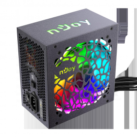 SURSA ATX 500W NJOY FREYA 500, 500W, Intelligent auto-thermal fan control, Active PFC, RGB lighting, 80Plus® Bronze, Fan Type 120 mm, ATI CrossFireX.