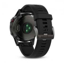 GPS Watch Garmin FENIX 5 SLATE GRAY, 240 x 240 pixels; sunlight-visible, always-on, low power, colorful display, Rechargeable lithium- ion: Up to 2 weeks in smartwatch mode (depending on settings), up to 24 hours in GPS mode, and up to 75 hours in UltraTr