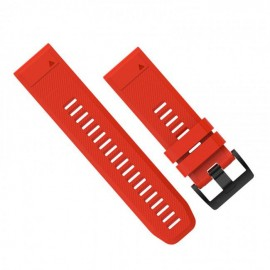 Curea ceas GARMIN Acc,fenix 5x 26mm QuickFit Flame, Red Silicone Band, GR-010-12517-02